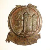 New Bristol Fire Office Fire Mark, 1769-1840, W12C, copper, P, traces of original paint