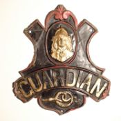Guardian Fire and Life Assurance Company Fire Marks, 1821-1868, copper - W57B, overall G, but six