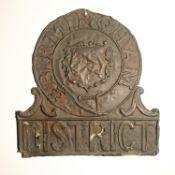 District Fire Office Fire Mark, 1834-1864, W83A, copper, F and W83E, copper, F-G (2)