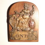 London Assurance Fire Mark, 1720-1965, W9G, lead, G, some wear to high relief areas, polished,