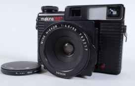A Plaubel Makina W67 Wide Angle Camera, shutter working, viewfinder clear, rangerfinder working,