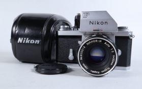 A Nikon F Photomic T SLR Camera, chrome, serial no 6953334, shutter sometimes sluggish/stutters on