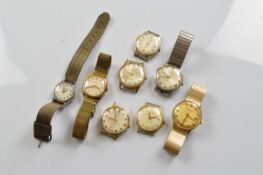 A collection of gentlemen's automatic wristwatches, by Rotary, Accurist, Limit and others
