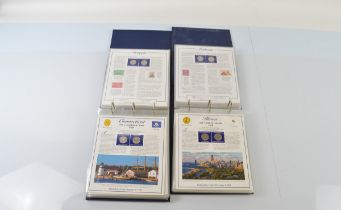 Two Commemorative Statehood Quarters Collection volumes I and II issued by the Postal