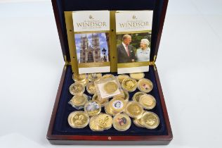 A quantity of Royal Commemorative medallions, of contemporary issue celebrating the British Royal