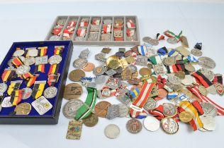 A collection of Swiss and Austrian shooting medals, from the early 20th Century through to modern