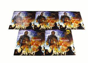 """Iron Maiden Picture Discs, five copies of The Wicker Man 12"""" Picture Disc released 2000 on EMI ("""