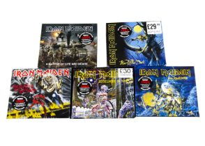 Iron Maiden CD Box Sets, five Sealed CD Album Box Sets, all from the 2015 Remaster Collection, all