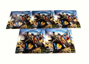 """Iron Maiden Picture Discs, five copies of The Trooper 12"""" Picture Disc released 2002 on EMI (12EM"""