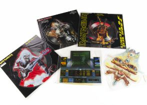 Iron Maiden Shaped Picture Discs, five UK Release Shaped Picture Disc Singles comprising Wasted