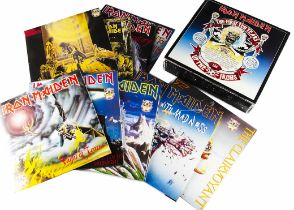 "Iron Maiden Box Set, The First Ten Years Box Set - twenty 12"" singles in ten Double Packs released"