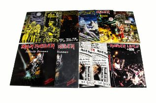 """Iron Maiden 12"""" Singles, ten 12"""" Singles including Special editions with titles comprising Run To"""