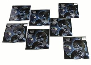 """Iron Maiden Picture Discs, seven copies of the Different World 7"""" Picture Disc single released"""