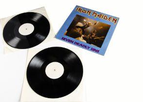 Iron Maiden LP, Seven Deadly Sins Double LP - Sleeve VG+, Vinyl Excellent to EX+