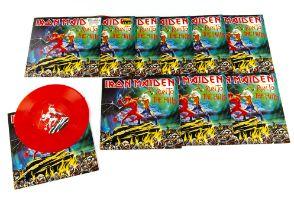 "Iron Maiden 7"" Singles, ten copies of Run To The Hills on Red Vinyl released 2003 on EMI (EM"