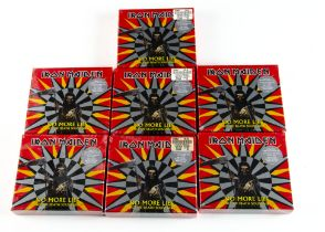 Iron Maiden CD Single Box Sets, seven Sealed copies of No More Lies CD EP Box Set with Wristband
