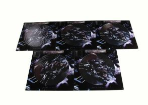 """Iron Maiden Picture Discs, five copies of Man on the Edge 12"""" Picture Disc released 1995 on EMI ("""