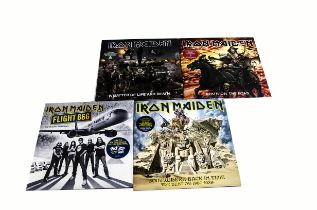 Iron Maiden Picture Discs, four double Picture Disc albums comprising Somewhere Back In Time, Flight