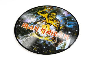 Iron Maiden Picture Disc, Piece Of Mind - USA Picture Disc LP released 1983 on Capitol (SEAX-