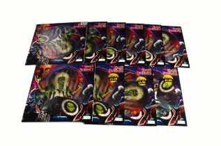 """Iron Maiden Picture Discs, ten copies of Out Of The Silent Planet 12"""" Picture Disc released 2000"""