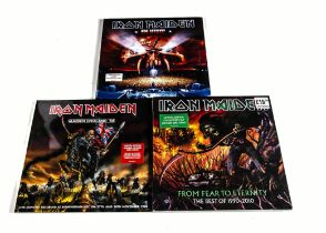 Iron Maiden Picture Discs, three sealed Picture Disc Double and Treble albums comprising En Vivo!,