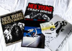 Neil Young Programmes / Tickets plus, three Tour Programmes and Tickets comprising Transworld Tour