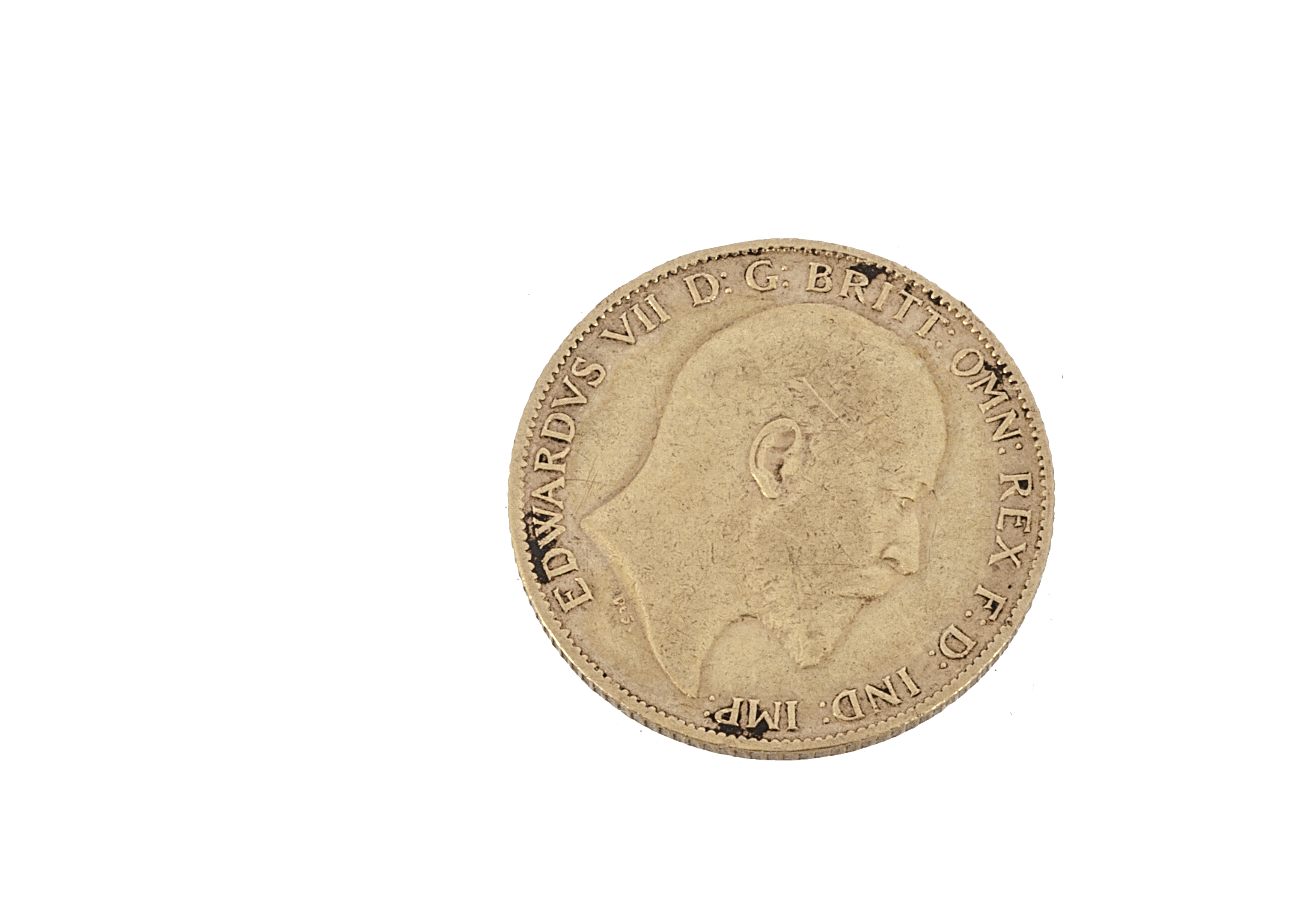 An Edward VII half gold sovereign, dated 1902, F-VF - Image 2 of 2