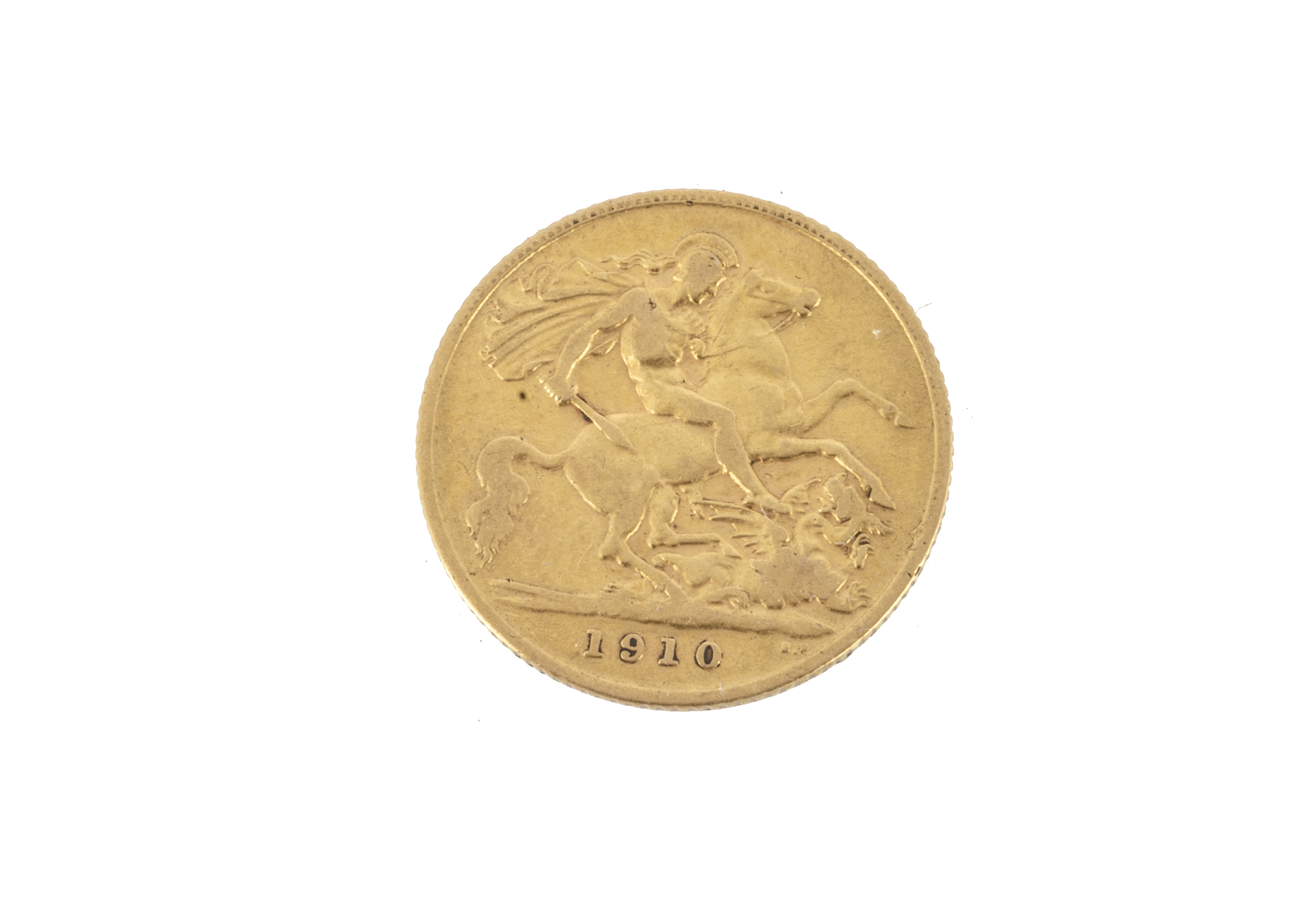 An Edward VII half gold sovereign, dated 1910, F - Image 2 of 2