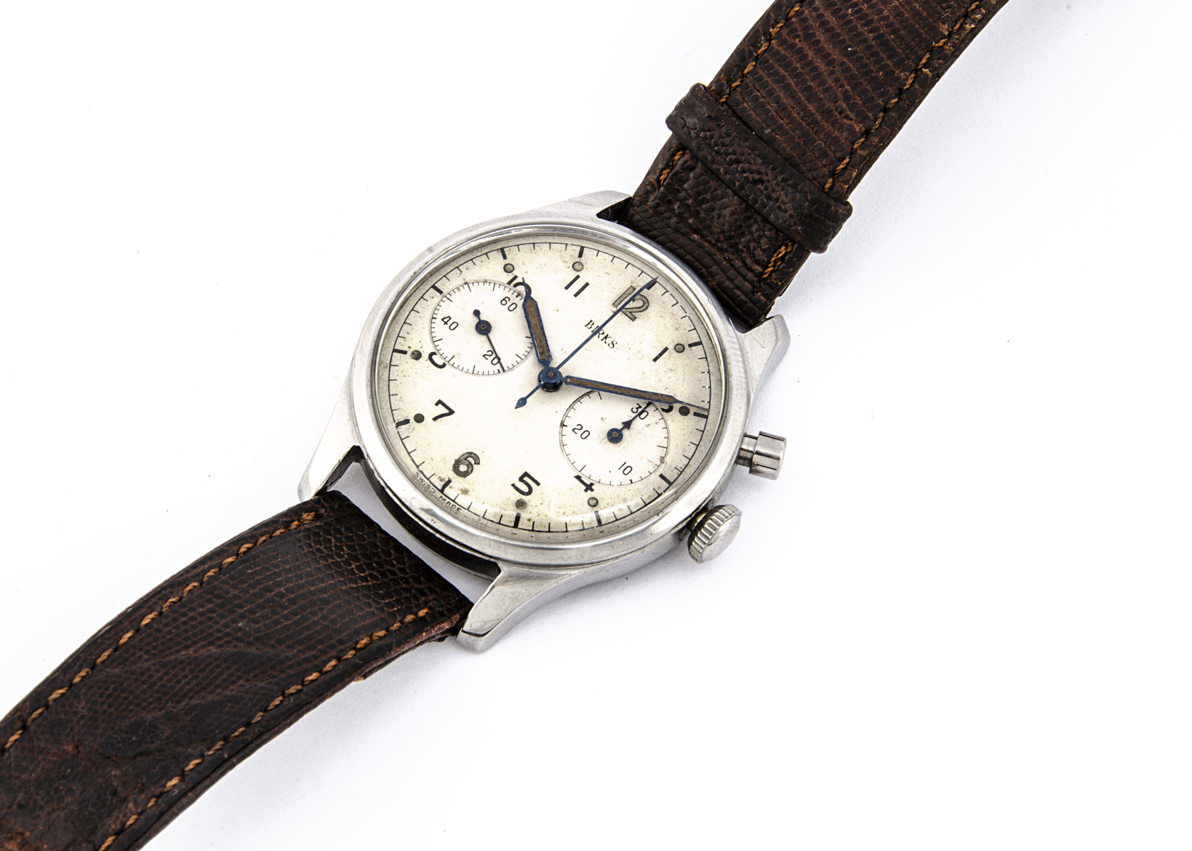 A c1959 Birks single button chronograph Royal Canadian Air Force stainless steel wristwatch, 36mm
