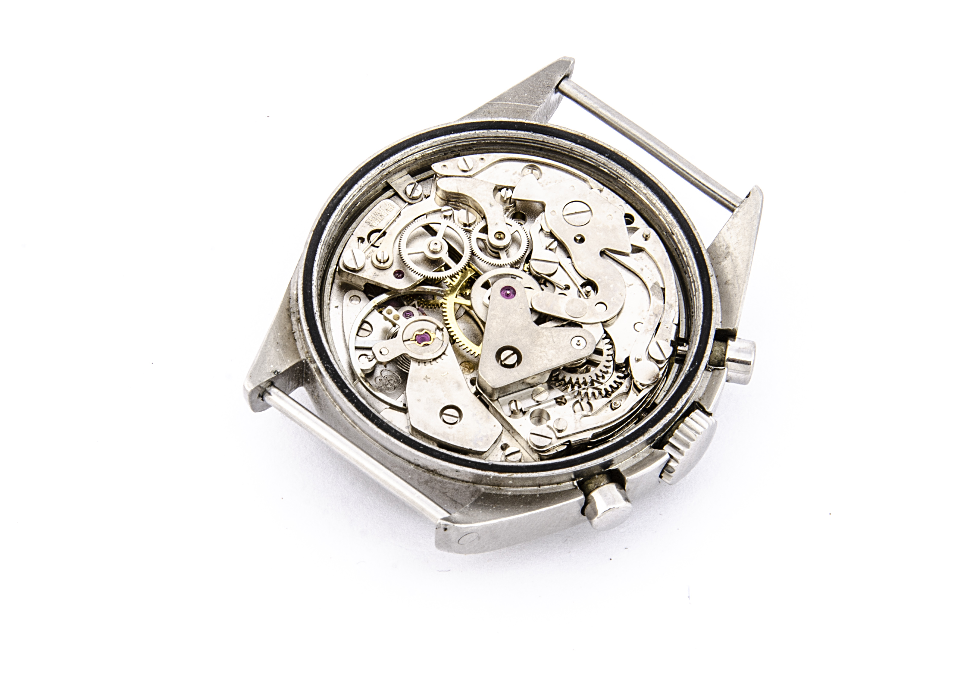 A c1980 Newmark two button chronograph Royal Air Force stainless steel wristwatch, 38mm case, - Image 3 of 4