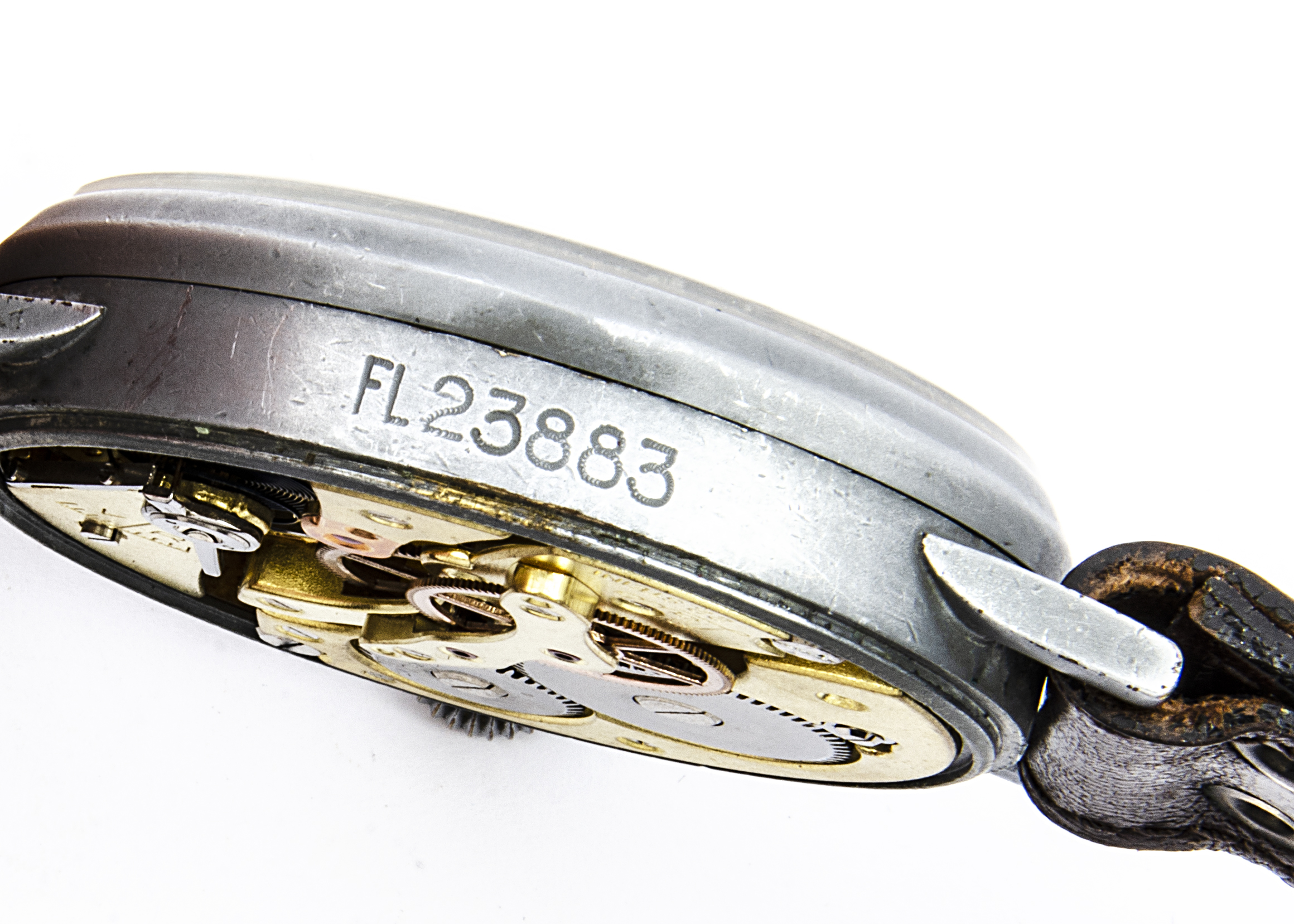 A WW2 period Laco (Larcher & Co) Durowe Military Luftwaffe Observer's oversized wristwatch, 55mm - Image 3 of 4