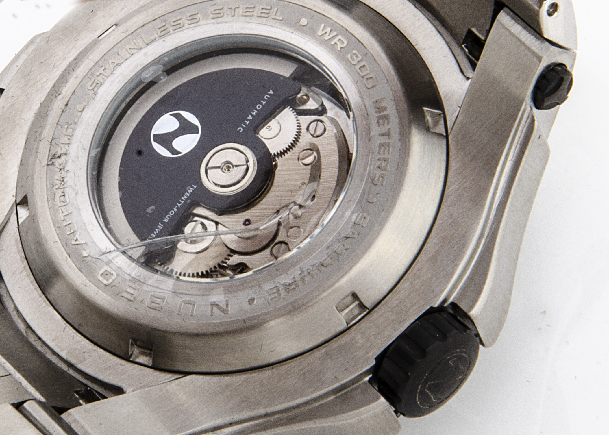 A modern Nubeo diver's automatic stainless steel gentleman's wristwatch, 52mm case, black dial, with - Image 3 of 3