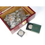 A collection of early to mid 20th Century French coins, together with a 1967 and 1968 South Africa