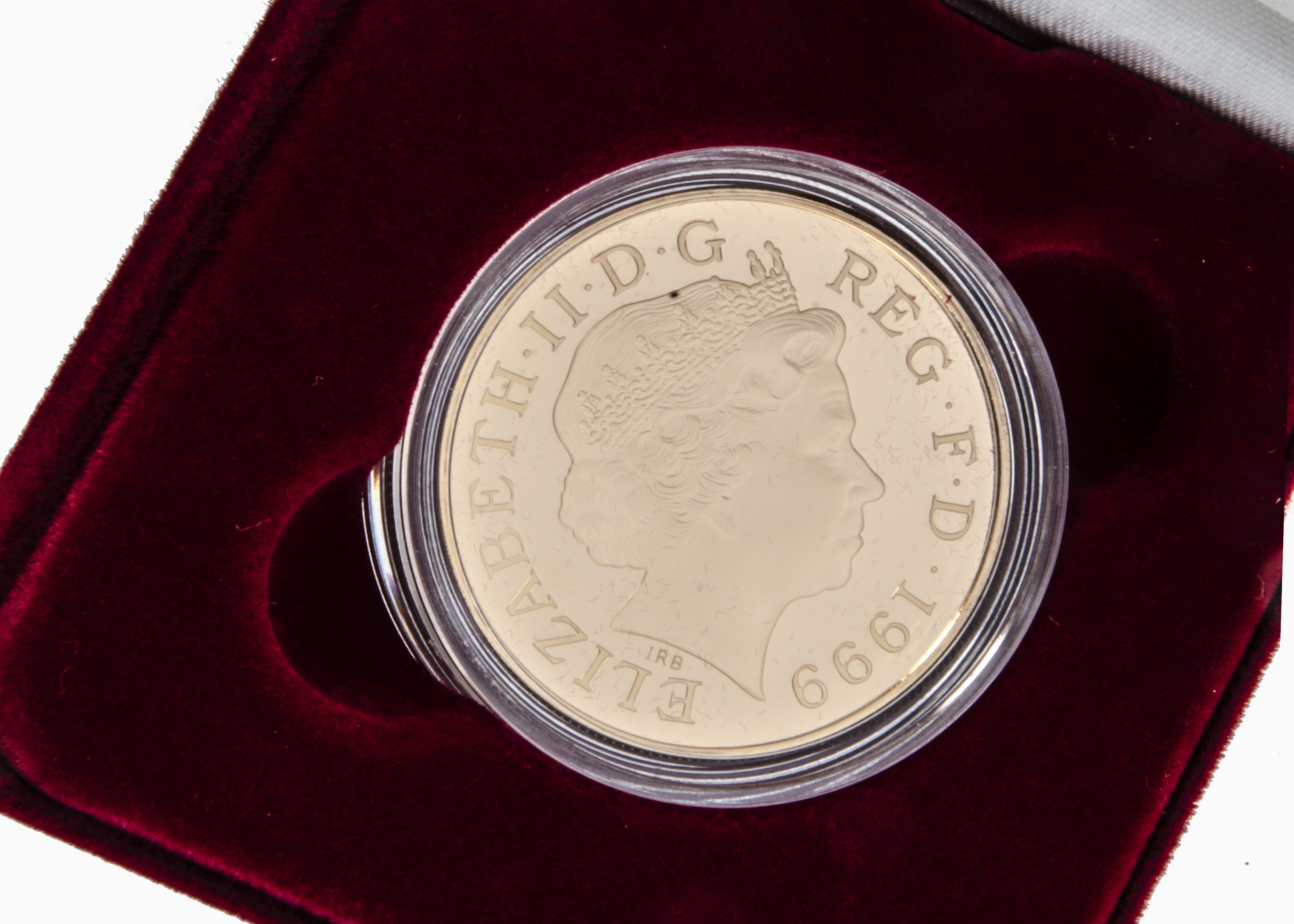 A modern Royal Mint Diana Princess of Wales Gold Proof Memorial Coin, 1999, in box with certificate, - Image 2 of 2