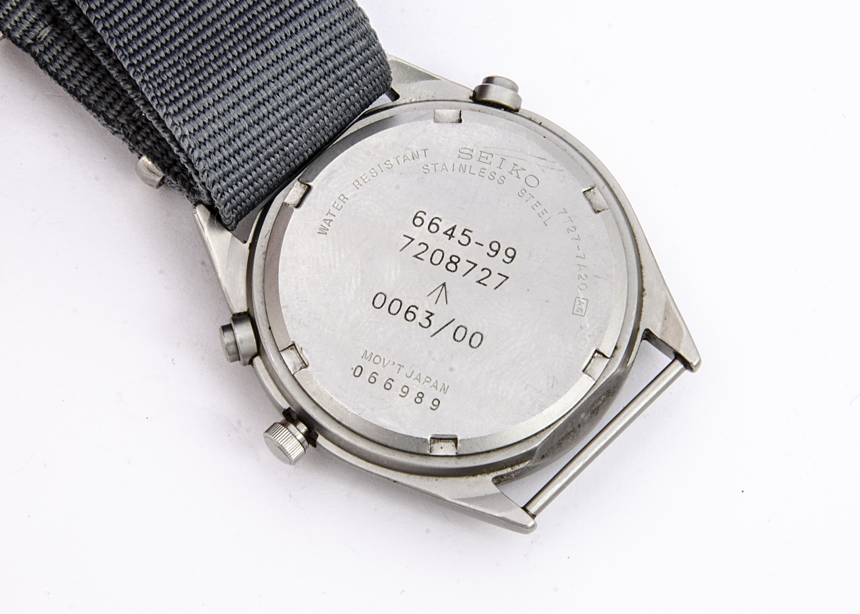 A modern Seiko Quartz Military Royal Navy stainless steel wristwatch, 37mm case, running, generation - Image 2 of 3