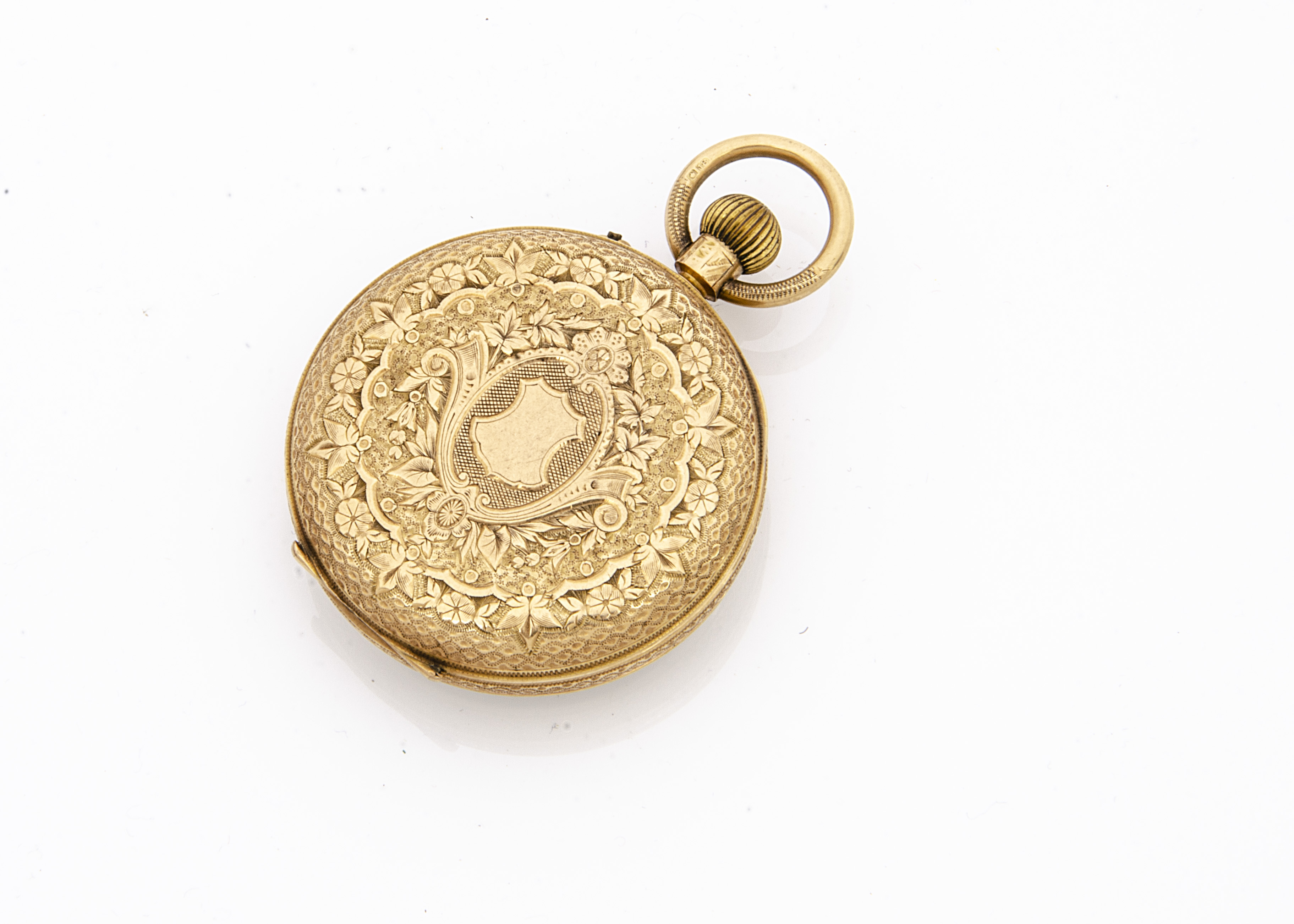 An Edwardian 18ct gold open faced pocket watch, 37mm, appears to run, 48.7g, hallmarked to rear - Image 2 of 3
