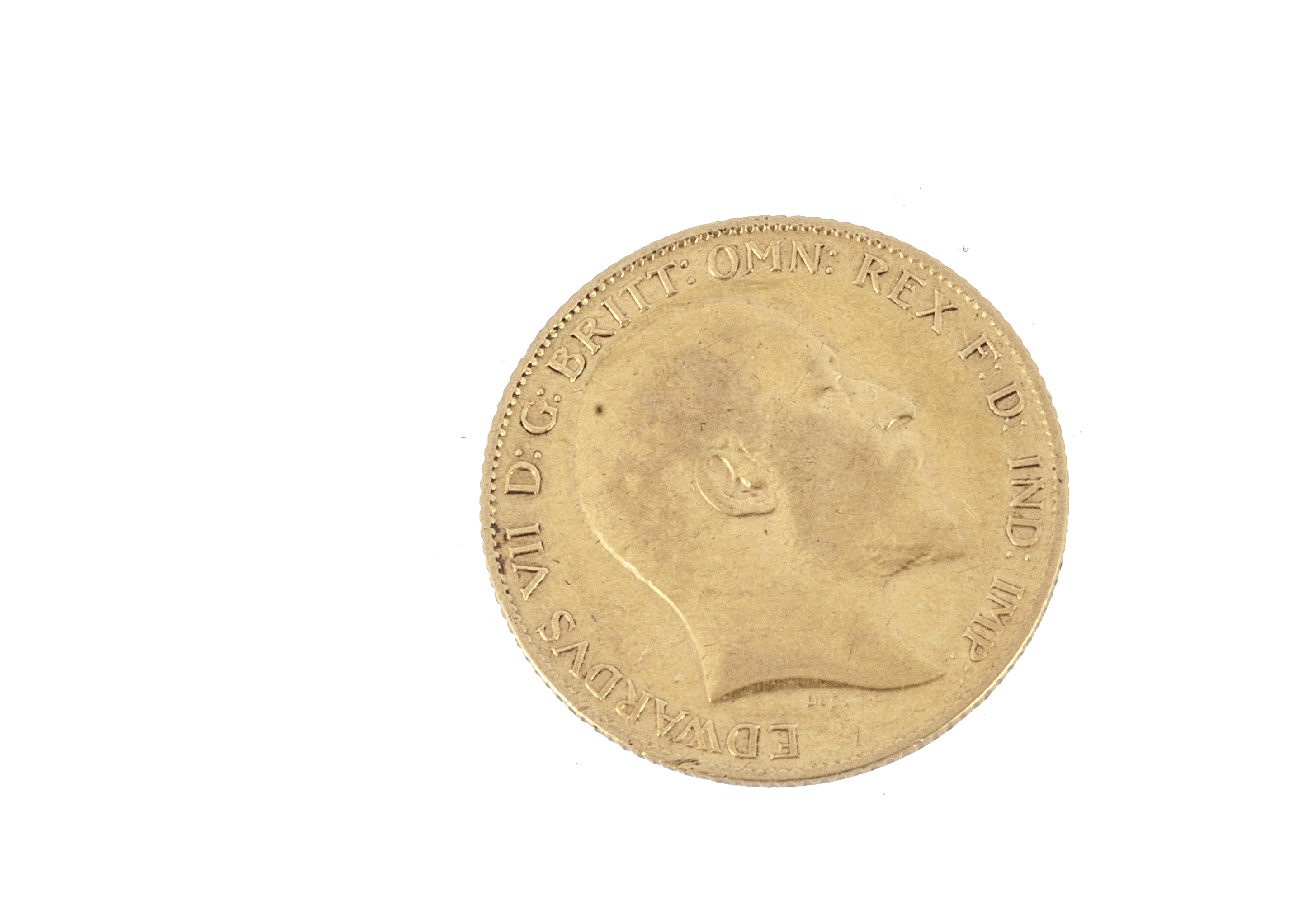 An Edward VII half gold sovereign, dated 1910, F