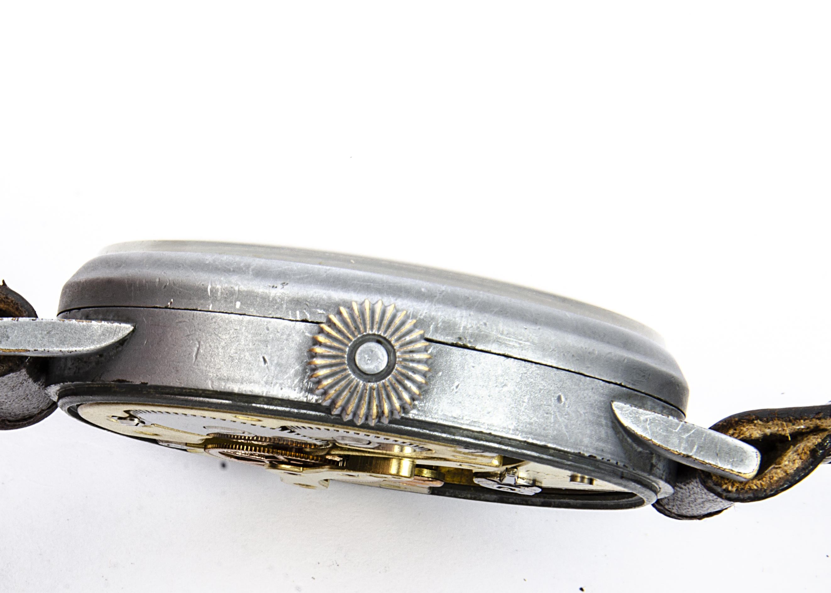 A WW2 period Laco (Larcher & Co) Durowe Military Luftwaffe Observer's oversized wristwatch, 55mm - Image 2 of 4