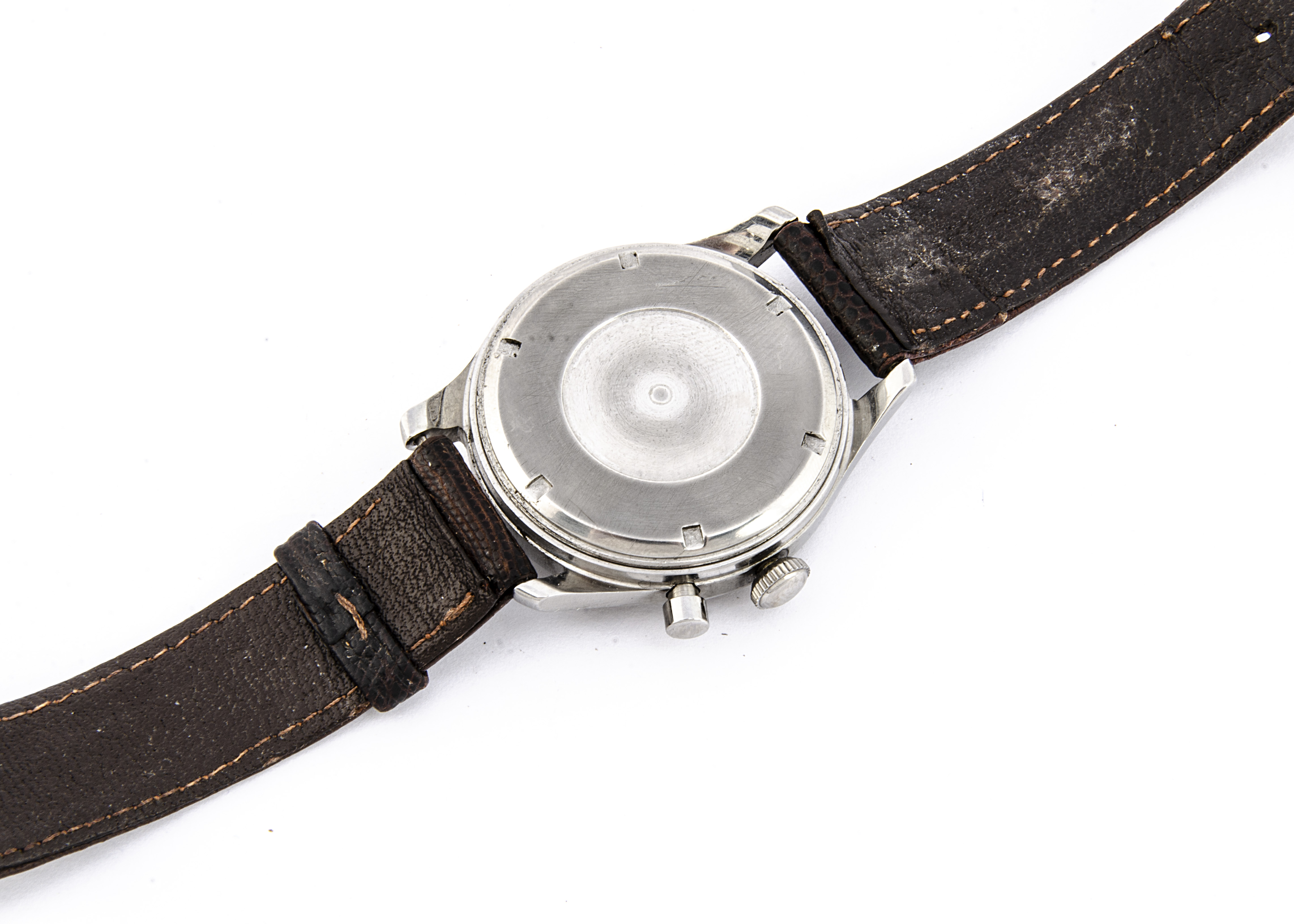 A c1959 Birks single button chronograph Royal Canadian Air Force stainless steel wristwatch, 36mm - Image 4 of 4