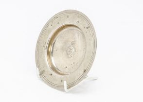 A 1990s silver Armada dish, engraved with emblem for Royal Wimbledon Golf Club, 3.5 ozt, 12.2cm