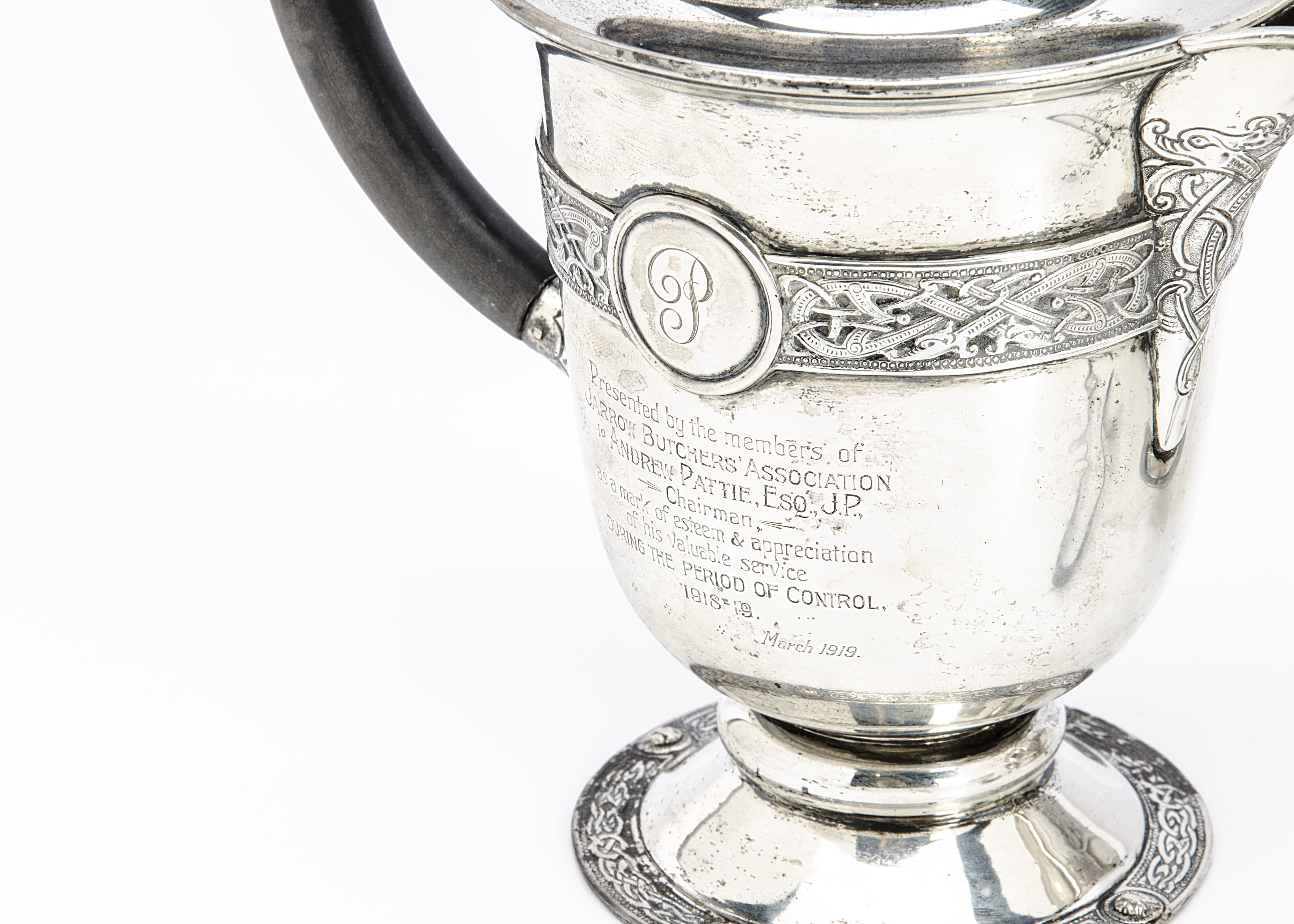 An early 20th Century four piece Irish silver tea service by Reid & Sons of Newcastle, comprising - Image 2 of 2