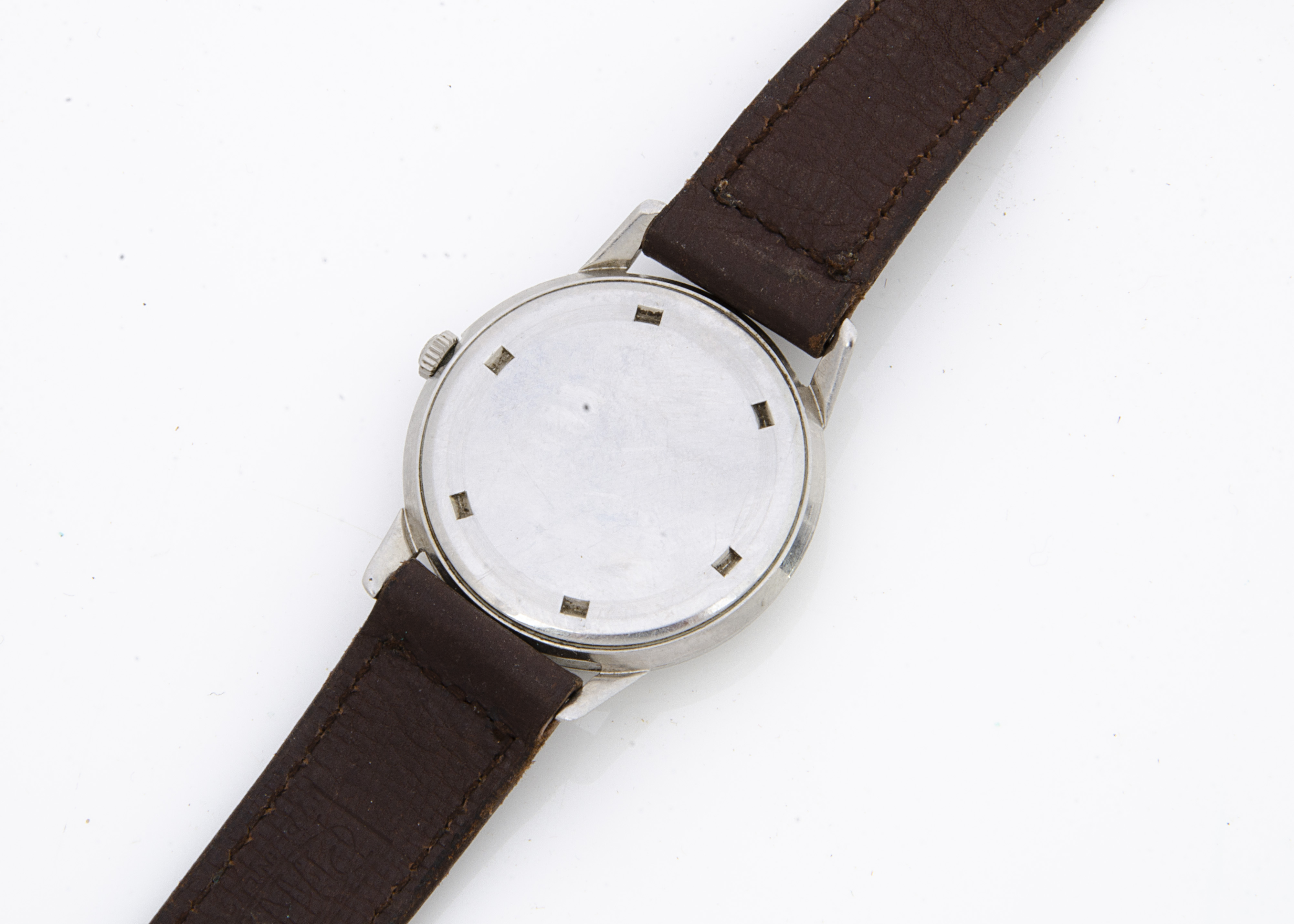 A c1970s Longines Jamboree stainless steel gentleman's wristwatch, 34mm, white dial, manual wind, - Image 2 of 2