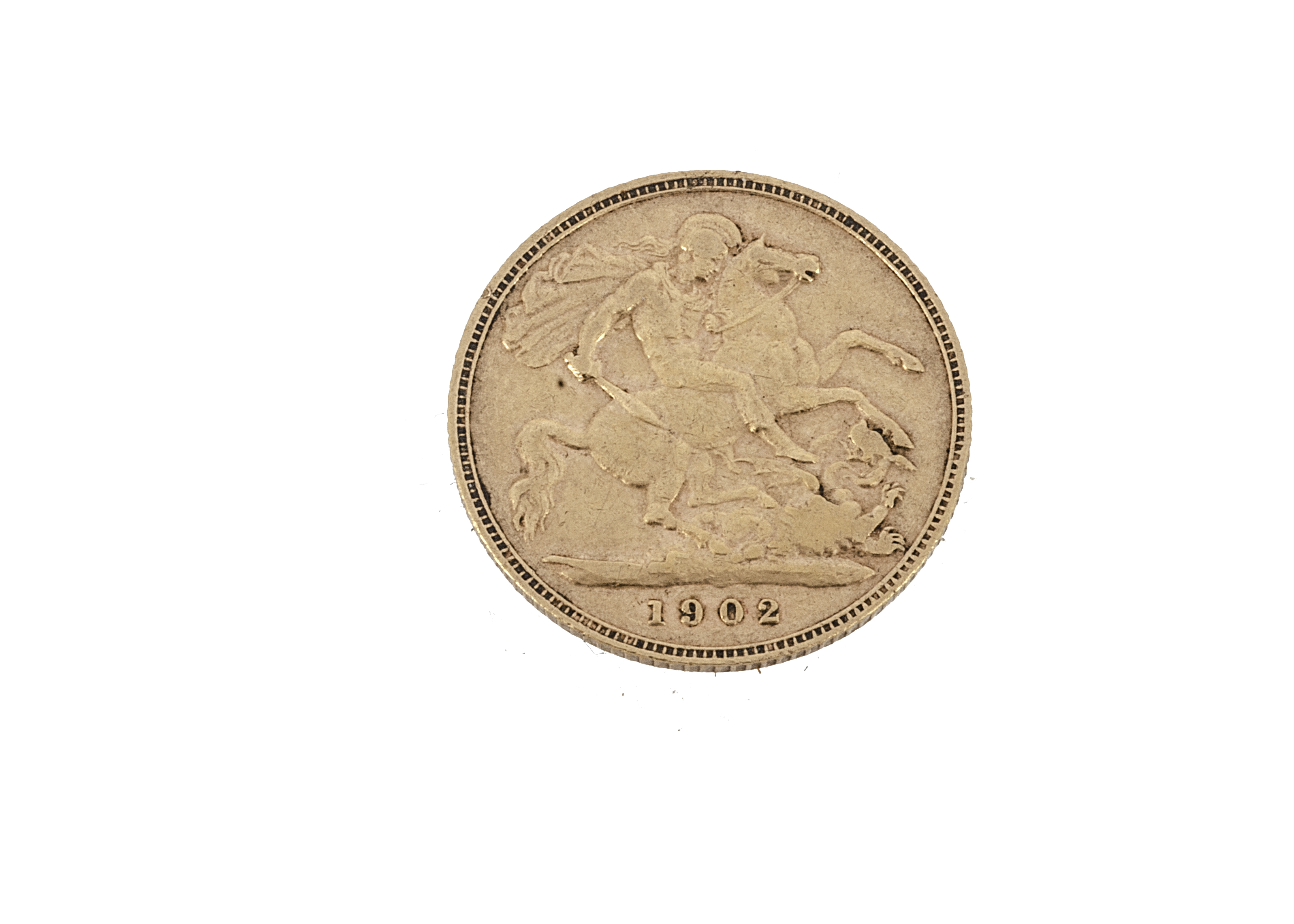 An Edward VII half gold sovereign, dated 1902, F-VF