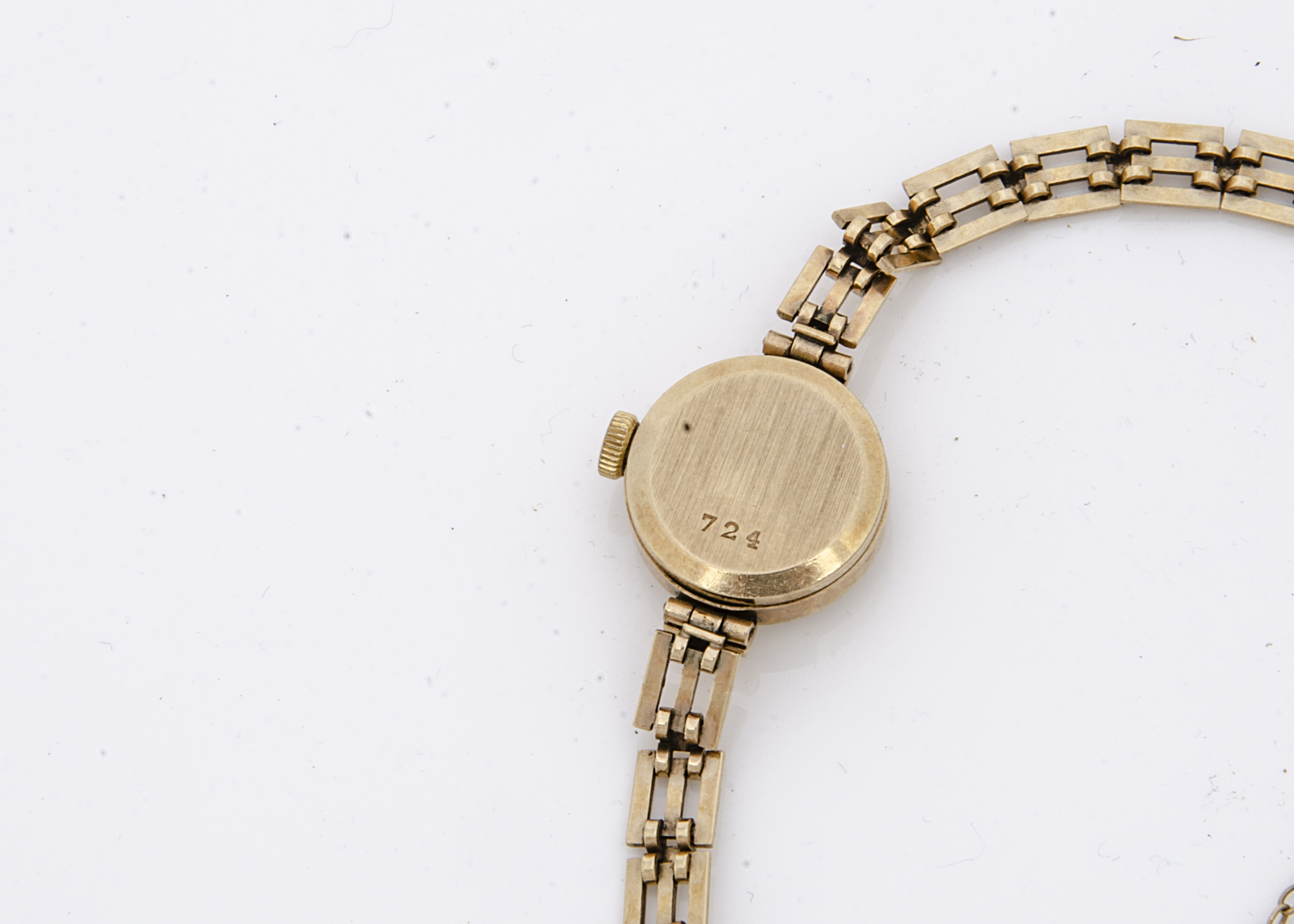 A c1980s Rotary 9ct gold ladies wristwatch, 17mm, having integrated 9ct gold bracelet, appears to - Image 2 of 2