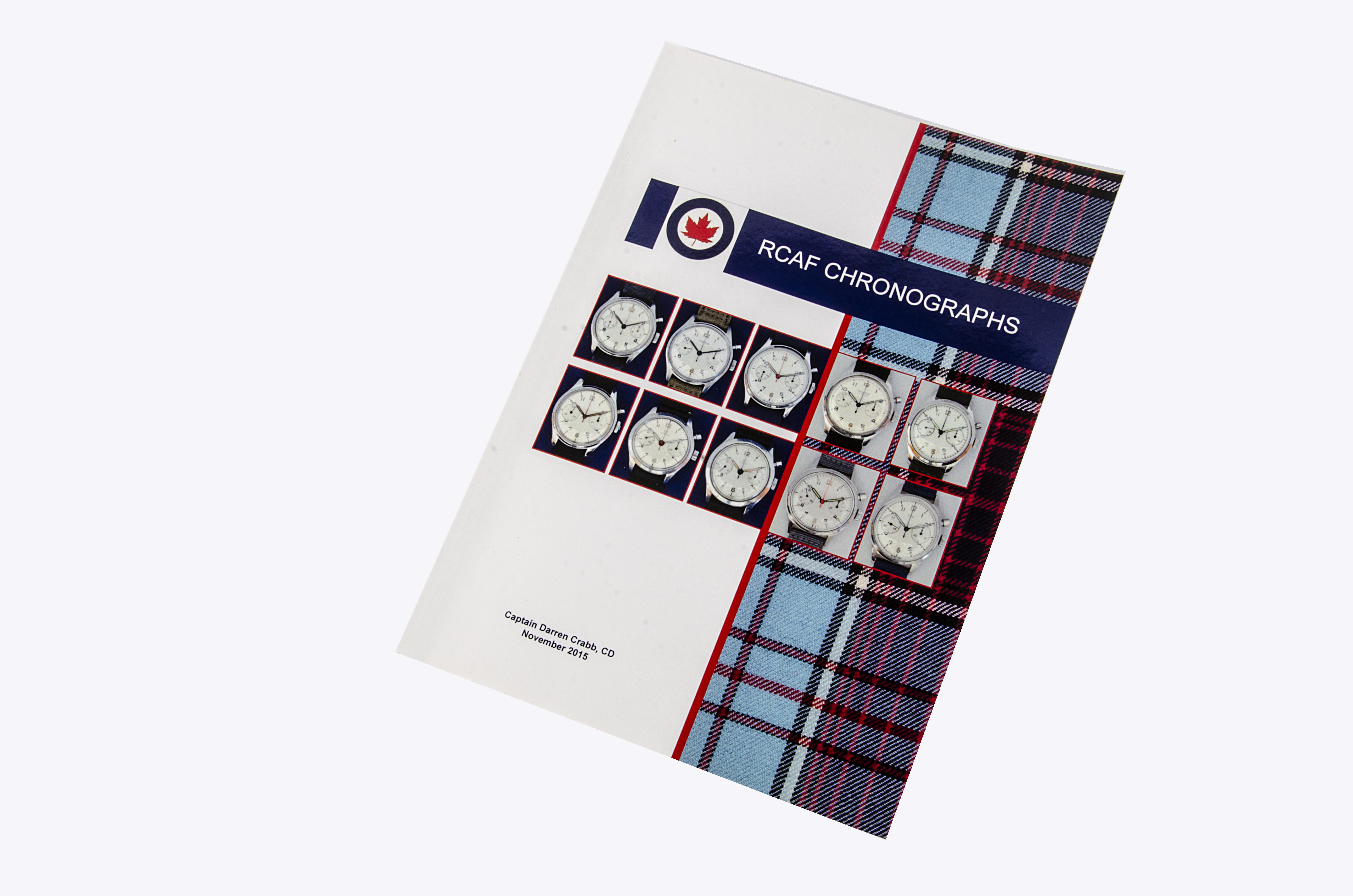 Book, RCAF Chronographs by Captain Darren 'Buster' Crabb, 2015, Published in Premiere Vision, ISBN
