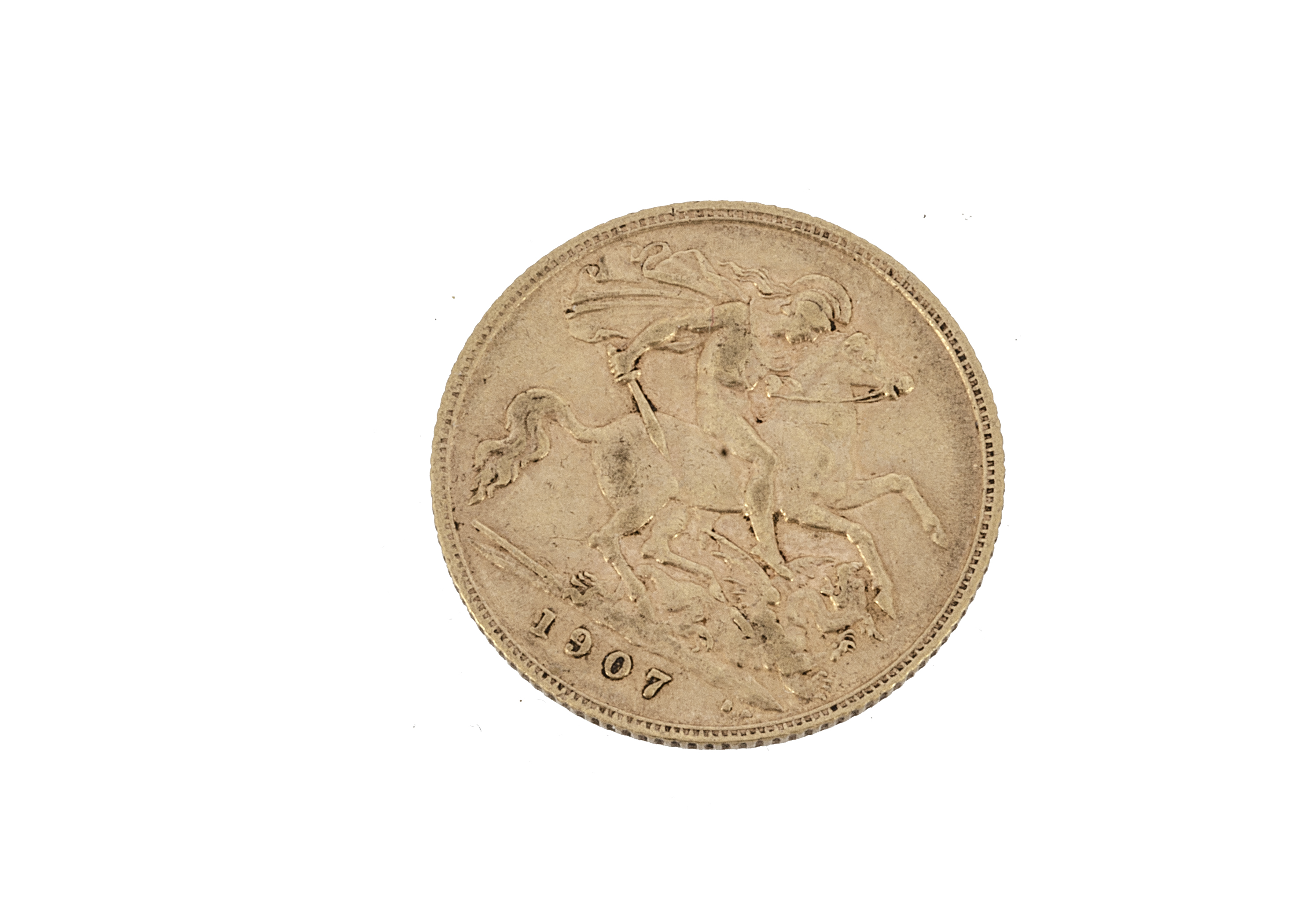An Edward VII half gold sovereign, dated 1907, VF