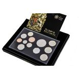 A Royal Mint 2009 UK Proof Coin Set, including Kew Garden 50p, in plastic case and in box with