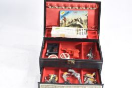 Collection of miniature Wild West Cowboy Toy Guns by various makers, including Crescent Famous Gun