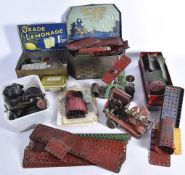 1940s-1960s Meccano pre-war Military Meccano and rest mostly post war red green and made up