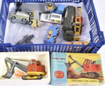 Corgi Toy Commercial Vehicles, includes a boxed 1128 Priestman Club Shovel, and unboxed 486 Kennel